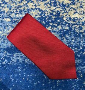 Brooks Brothers Vintage Deep Red Solid Handmade Silk Necktie USA