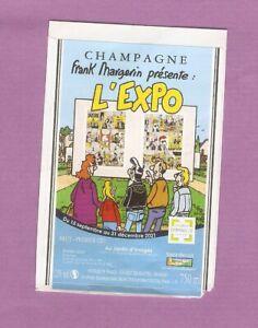 MARGERIN  étiquette BD  champagne Vautrain  cuvée  Expo Margerin  très rare