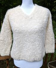 Vintage Handmade Tam Italia Mohair Wool Textured Sweater  Made In Italy Sz S-M