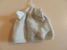 NWT baby Gap unisex bleached wood (white) beanie w/fox ears; 3-6m