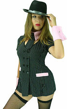1920s 20's Chicago Gangster Gangsters Moll Girl Fancy Dress Costume - M 8 10 12