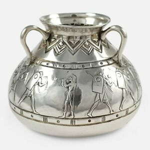 Early 20th Century Portuguese Silver Pot David Ferreira