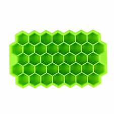 1 X Silicone Mold Tool Jelly Ice Cubes Tray Pudding Mould Geometric Green