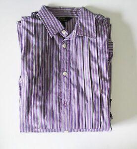 Ralph Lauren Girls Striped Long Sleeve Shirt Purple Sz 16 - NWT