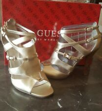 Guess Metallic Gold Strappy Heels Size 7. 5 New in Box