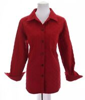 Talbots Womens Quilted Jacket Blazer Coat Barn Red Sz Medium