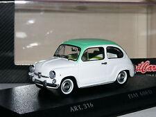 Detail Cars ART316 1965 Fiat 600 D White/Mint Green 1/43