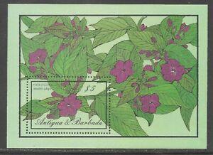 Antigua & Barbuda #957 (A163) S/S VF MNH - 1986 $5 Four O'Clock Flowers