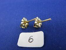 14K Gold  Friction Fancy Push Back Earrings Backs w. Posts  (1 Pair)  item #6