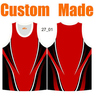 Custom Made Athletic Singlets Casual Tank Top Blouse Sleeveless O-Neck Shirts 27