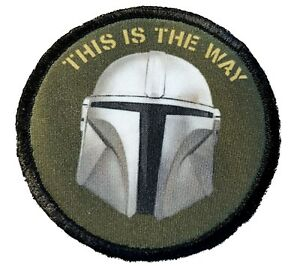 Mandalorian This is the way Morale Patch Tactical Military Army USA  Star wars