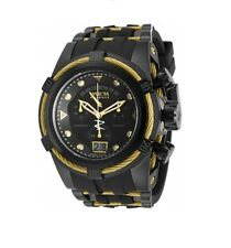 New Mens Invicta 90006 Reserve Bolt Zeus Swiss Made Chronograph Black Watch