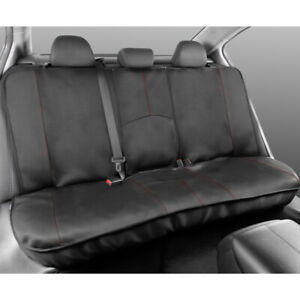 Motor Trend Full Size Rear Bench Car Seat Cover - Red Stitch, 100% Waterproof