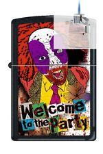 Zippo 218 evil clown welcome party Lighter & Z-PLUS INSERT BUNDLE