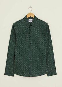 Peter Werth New Mens Calder Long Sleeved Shirt - Green