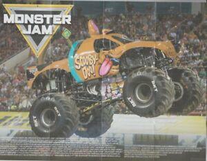 "2020 ""Scooby-Doo"" Monster Jam Monster Truck SPIN MASTER Poster Handout"