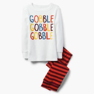 NWT Gymboree Gobble Gymmies Pajama Set Boy Thanksgiving Holiday