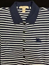 Brand New BURBERRY T Shirt Short Sleeve Cotton Medium Burberry Brit Polo T Shirt