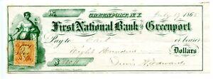 1865.   Greenport, New York.  First National Bank