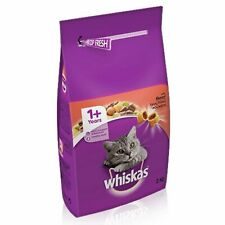 Whiskas 1+ Cat Complete Dry Cat Food - Beef - 2kg