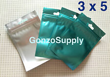 "3x5"" 1000PC Clear Front Metallic Blue Zip Lock Mylar Bags Crafts Storage Product"