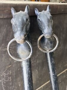 antique horse head Hitching Posts