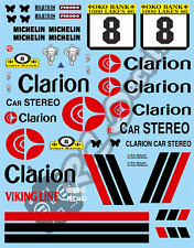 1/10 Decal Rally Set MG 6R4 Clarion 1998 Tamiya TA01 TA02 TT01