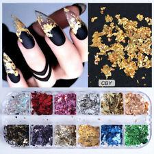Nail Sequins Flakes Nail Art Decoration Gold Foil Aluminum Nail Art Accessories