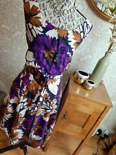 Laura Ashley floral printed pure silk dress size UK20