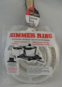 Stove top Metal Simmer Ring Heat Diffuser for Use on Gas and Electric Ranges