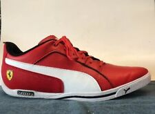 Puma Scuderia Ferrari  Selezione II Mens Red Leather Lace Up Shoes Size 9 US