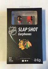 Chicago Blackhawks iHip Premium Audio Earphones Earbuds - iPhone iPod NEW