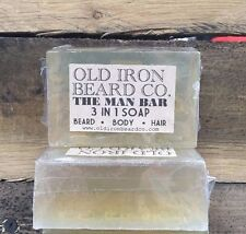 "Old Iron Co. ""3 in 1"" soap bar - all natural, handmade in the USA!"