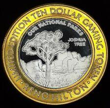 RENO HILTON $10 LIMITED EDITION .999 FINE SILVER STRIKE - JOSHUA TREE