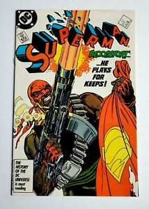 SUPERMAN #4 ~ DC 1987 ~ 1st Appearance of Bloodsport! Idris Elba Suicide Squad 2