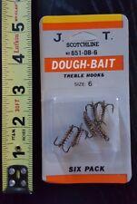 Scotchline 6-pack of Dough-Bait Treble Hooks size 6