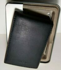 Fossil Mens Tate 2 Tone Black & Cognac Leather RFID Money Clip ID Bifold Wallet