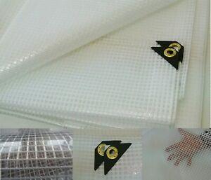 Clear Tarp 8 X 8 14 mil Clear Greenhouse Tarp, UV Resistant Fiber Reinforced
