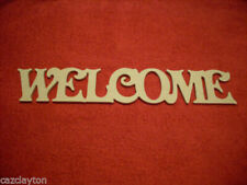 Wooden Letters Welcome Decorative Plaques & Signs