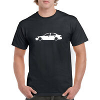 Honda Civic EJ Saloon Outline Silhouette 100% Cotton Crew Neck T-shirt