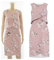 ex Phase Eight Blossom Print Mock Layer Shift Occasion Cocktail Dress - Seconds