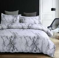 Gray Simple Marble Bedding Duvet Cover Set Quilt Cover Twin Queen King Size 3pcs