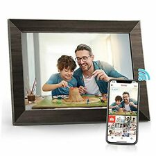 WiFi Digital Picture Frame 10.1 inch Touch Screen Digital Photo Frame HD Brown