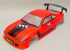 1/10 RC Car Body NISSAN S15 SKYLINE Body Shell Finished Red Cat 200mm -RED-
