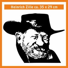 HEINRICH ZILLE Wandtatoo, ca. 35 x 29 cm, Hochleistungsfolie m. Montagepapier