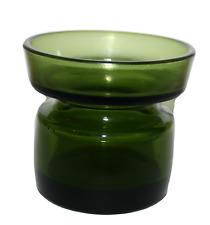 Danske Glass Designs Jens Quisgaard Green Glass Votives Vintage Vase Candle