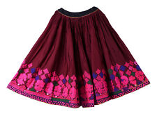 Indian Banjara Embroidery Long Skirt Vintage Hippie Women Skater Retro Bohemian