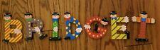 """Adorable Sevi Letters Wooden Assorted Alphabet Clown Letters & Colors """"Bridget"""""""