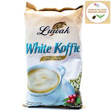 10 sachets x 20 gr/0.7oz Kopi Luwak White Coffee 3 in 1, Low Acid,Free Shipping