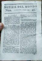 1779 RIVISTA SU GUERRA NAVALE ISOLA DI JERSEY; FILIPPO CALCAGNINI DA FUSIGNANO